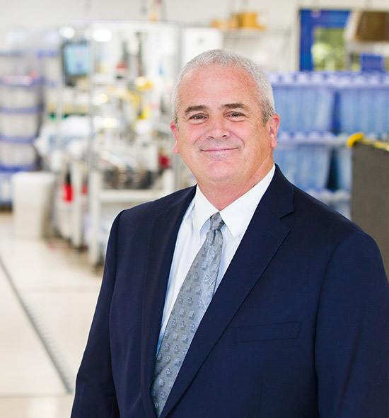 Chuck Anger, Ultradent's VP of Manufacturing Operations